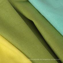 55% de lino 45% de algodón de color sólido camisa teñida Tela al por mayor