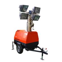 Torre de iluminação industrial móvel de venda quente