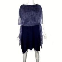 Hot Selling 2016 O novo respirável vestido solto com vestido de xaile Georgette para mulheres gordas