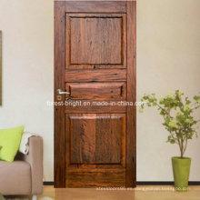 Puerta de madera interior del diseño clásico, precio de la puerta