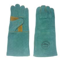 Green Reinforcement Los guantes de soldadura de cuero Palm