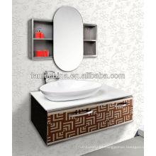 La pared colgó la vanidad antigua blanca del cuarto de baño La vanidad antigua blanca del cuarto de baño de la buena calidad