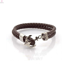 Classic Brown Bulk Purchase Leather Pulsera Fábrica de China