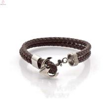 Achat en vrac brun classique Bracelet en cuir Chine usine