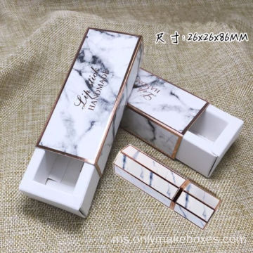 Custom Printing Marble Tuck Top Box For Gincu