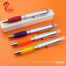 Pluma plástica modificada para requisitos particulares del logotipo de la pluma del Highlighter en venta