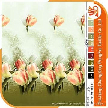 O tecido de flor impresso em 3D aplica-se para têxtil doméstico