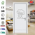 PVC Laminate Solid Wwood Kitchen Cabinet Interior Door