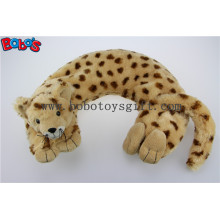 Home Products Plush Stuffed Leopard Animal U Shape Microwave Heated Neck Pillows