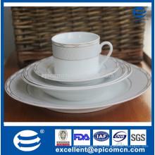 Высококачественная отделка золотом королевская керамическая посуда из фарфора GGK