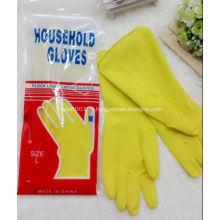Желтые резиновые 100% латексные хозяйственные перчатки