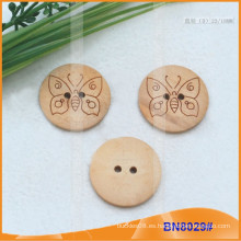 Botones de madera naturales para la prenda BN8029