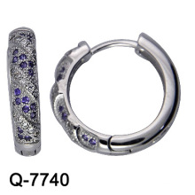 Fashion Jewelry 925 Sterling Silver Hoop Earrings (Q-7740)