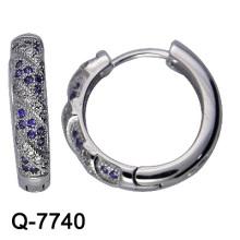 Серьги обруча стерлингового серебра ювелирных изделий способа 925 (Q-7740)