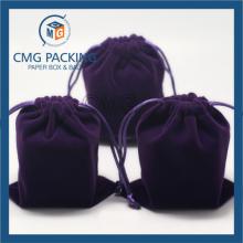 Fashion Professional Velvet Drawstring Packaging Bag (CMG-Velvet bag-009)