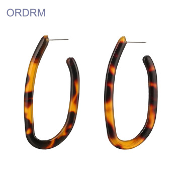 U Berbentuk Acrylic Hoop Earrings Wholesale