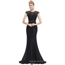 Starzz 2016 el vestido de noche sin mangas más nuevo del cordón del negro de la Piso-Longitud 8 Tamaño los EEUU 2 ~ 16 ST000085-1