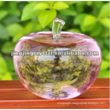 Crystal Glass Faceted Apple