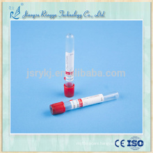 CE ISO approved disposable red cap vacuum blood tube manufactory