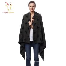 Женщина мода квадратный узор кашемир пашмина шаль шарф
