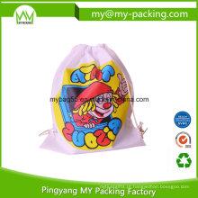 Saco de cordão de escola promocional promocional personalizado para crianças