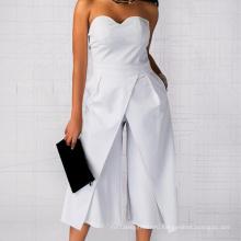 Женские офисные свободные широкие брюки-комбинезоны