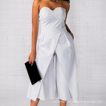 women office loose tube dress wide leg pants jumpsuits