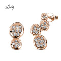 New 2021 Unique Asymmetrical Colette Quirky Stud Earrings with Premium Austria Crystal