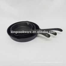 Pre-seasoned/vegetable oil cast iron fry pan /skillet with 2 ears
