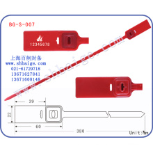 Etiquetas de seguridad de plástico BG-S-007, sellos de contenedores, cerradura de la puerta