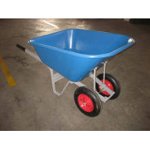 Large Plastic Tray Double Wheel Wheel Barrow