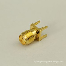 Female PCB Mount SMA Connector Gold Plated