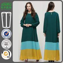 2016 Green Chiffon Beautiful Long Sleeves Women Dubai Kaftan