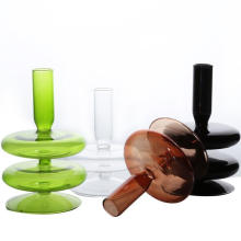 Hot Selling Decorative Colorful Glass Candle Holder