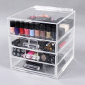 Doorzichtige acryl make-up opslagcontainers
