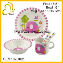 conjunto de louça de melamina segura de alimentos para crianças