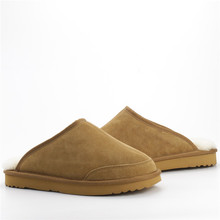 Warm Men's Sheepskin Slippers In Winter