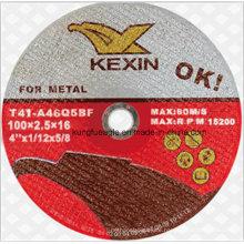 Schleifmittel schneiden Rad für Metall 100 * 2.5 * 16mm ab