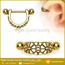 Anillo en forma de arco de acero inoxidable con forma de arco en el oído del anillo del cartílago