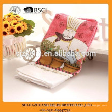 Großhandel alibaba terry baumwolle weihnachtsgeschenk kochmuster siebdruck küche tee towel
