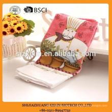 atacado alibaba terry algodão presente de natal cozinhar padrão tela impressa toalha de chá de cozinha