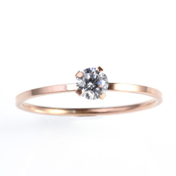 Simple design gold diamond Engagement Wedding Ring