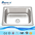 2017 NEW CE approved press stainless steel 304 large single bowl kitchen sink 750 x 450mm size