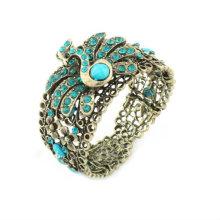 Venda quente pavão strass braceletes pulseiras e braceletes de resina BA29