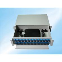 Marco de distribución de fibra óptica de montaje en bastidor deslizable de 96 núcleos
