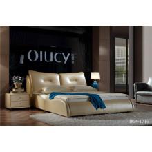 Nouveaux lits rembourrés en cuir véritable