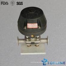 Válvula de diafragma pneumático de aço inoxidável sanitário (novo design)