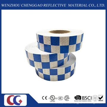 Blaues weißes hohes reflektierendes Tapes-Quadrat hergestellt in China-Fabrik