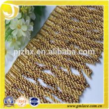 Franja amarilla para vestidos y decoración del hogar