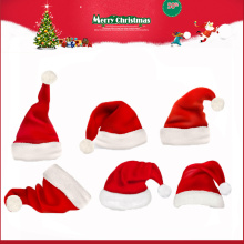Mini Santa Claus Christmas Plush Hat for Kids Christmas 2016